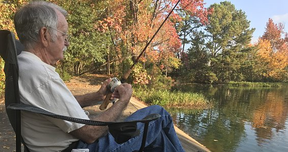 Lifelong fisherman finds fishing paradise at Westminster Place