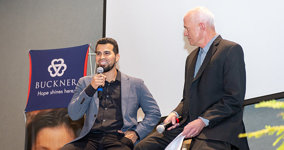 MLB catcher Robinson Chirinos shares about faith, service and baseball at Buckner fundraiser in Amarillo