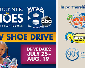 sos dfw shoe drive banner section