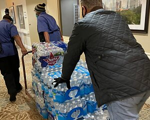 tallowood donates water to parkway place