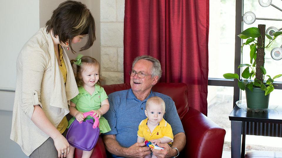 senior with grandchildren
