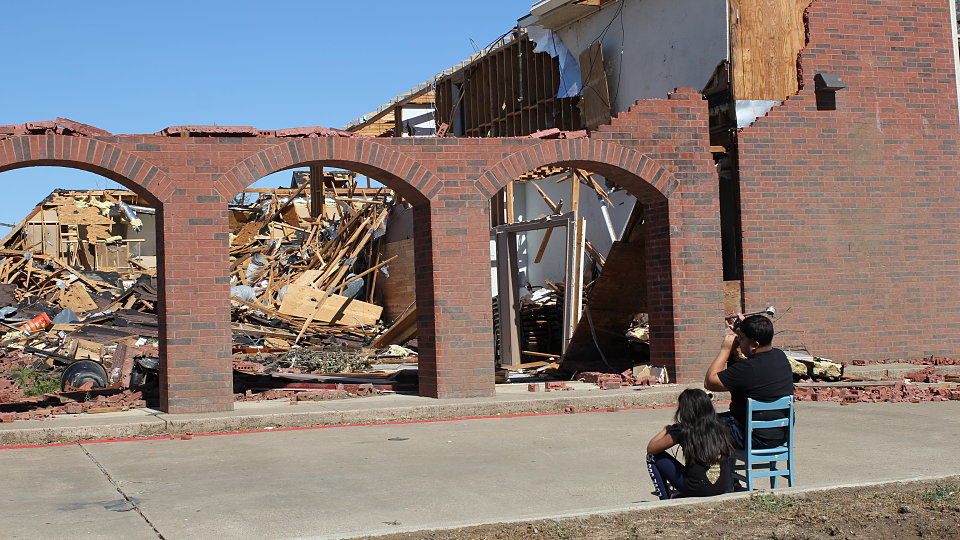 tornado devestates local dallas church