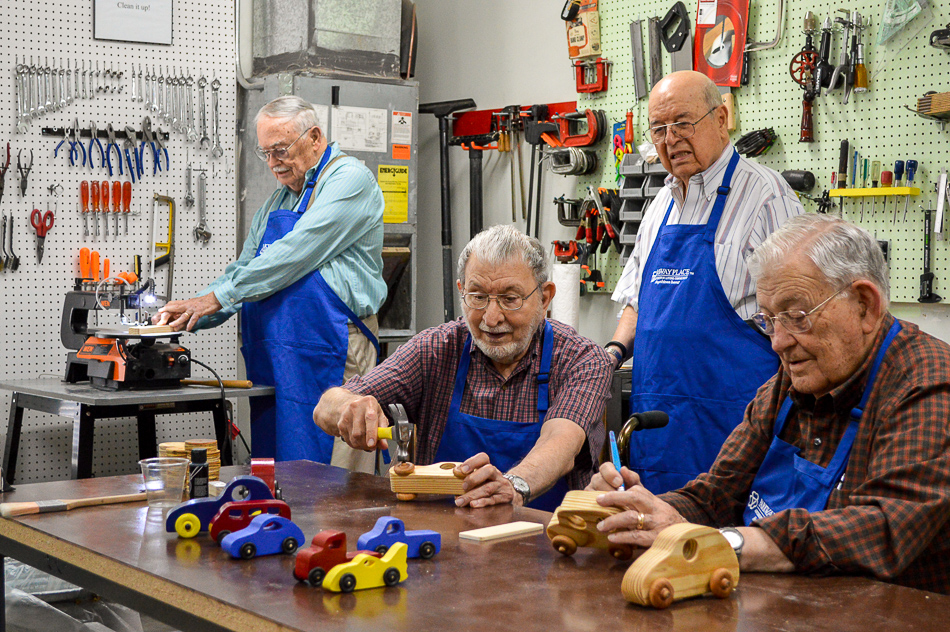 seniors in workshop