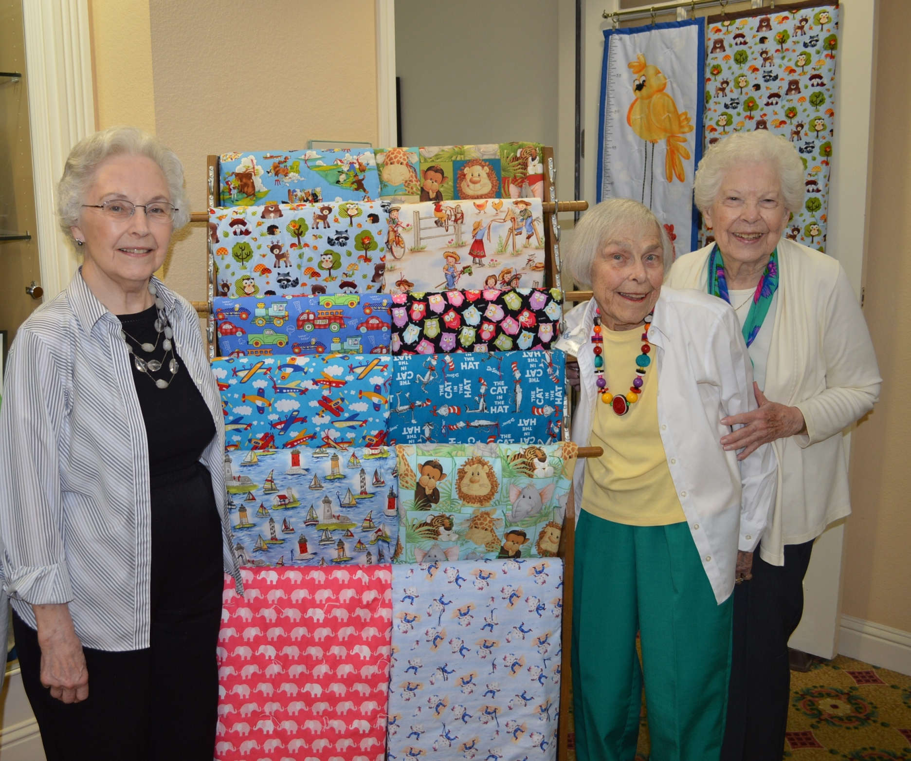 quilts made by local seniors
