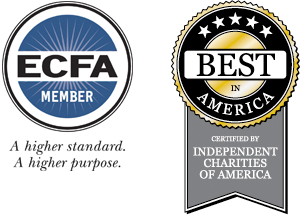ECFA Member and Certified by Independent Charities of America